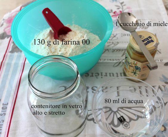 Realizzare il lievito madre è semplicissimo! Preparate acqua,miele,farina,sbattitore elettrico, un vaso in vetro e armatevi di tanta pazienza e non scoraggiatevi mai.