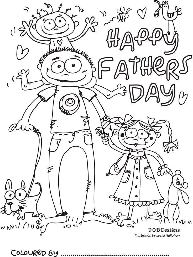Fathers Day Malvorlagen für Kinder zum ausdrucken ...