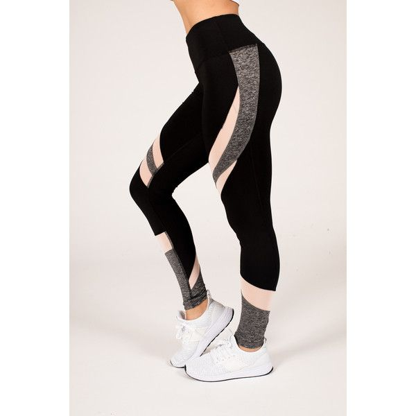 Women's RAG Womens Active Legging With Color Mesh Inserts - Plus Size... ($14) ❤ liked on Polyvore featuring activewear, activewear pants, black, plus size activewear pants, women's plus size activewear, plus size activewear, yoga activewear and plus size sportswear