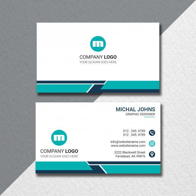 Flat Business Card Template Business Card Template Modern Business Cards Professional Business Card Design
