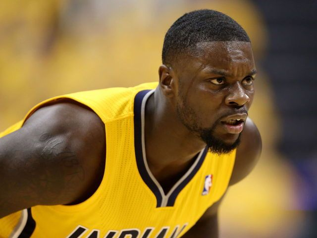 Lance Stephenson skips down the court, picks up fancy assist