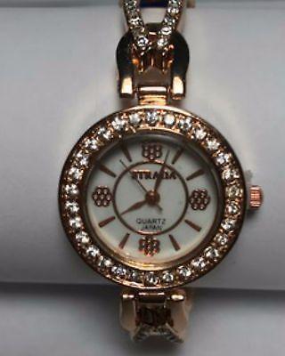 Ladies Gold Watch w/ Blue Band  | eBay
