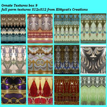 Ornate textures 9 box