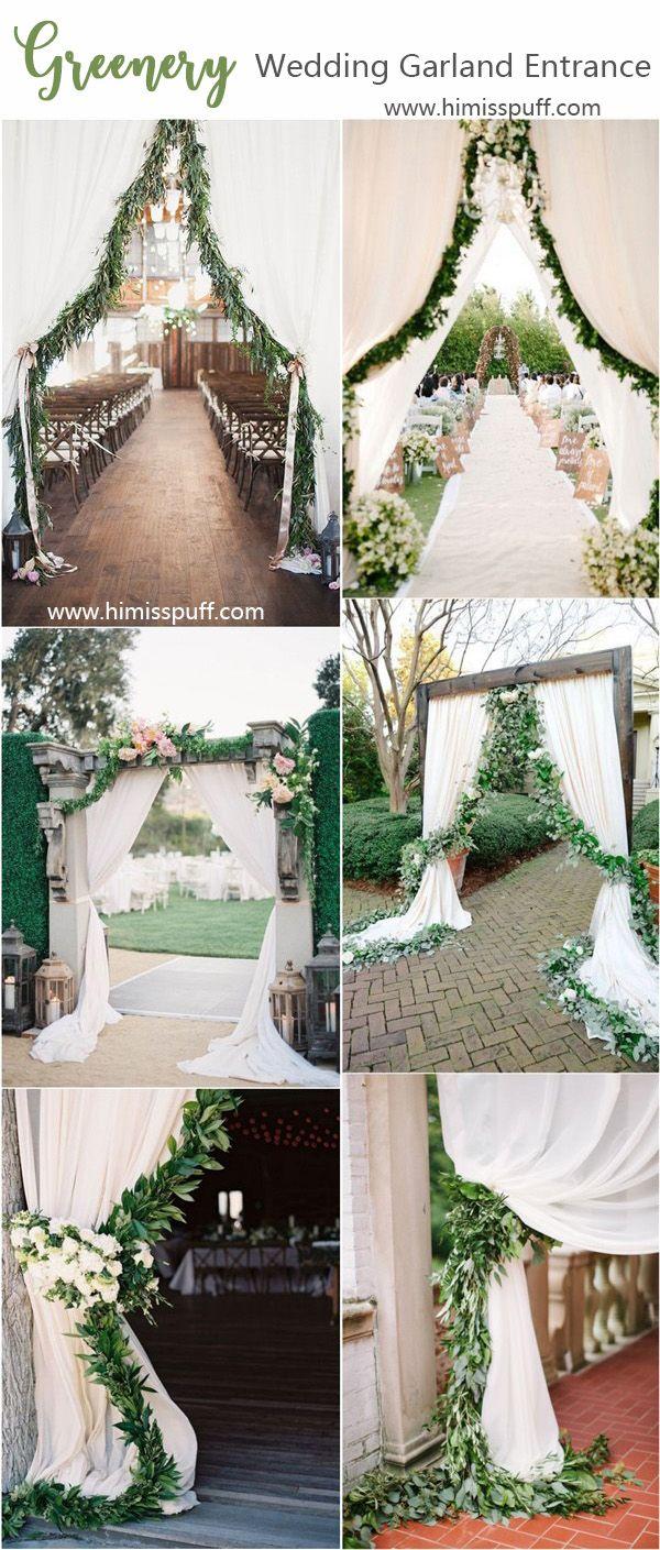 40 Greenery Wedding Garland Decoration Ideas Wedding Entrance Decor Garland Wedding Decor Wedding Entrance