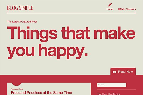 Check out Blog Simple by automattic on Creative Market