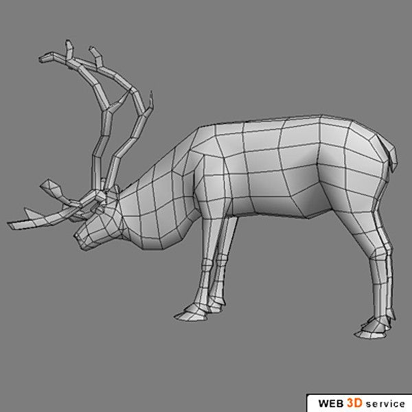 deer reindeer 3d model - Reindeer_3ds.zip by web3Dservice