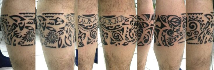 #polinesiano#fascia#ginocchio#montefortetattoo#tatuaggio