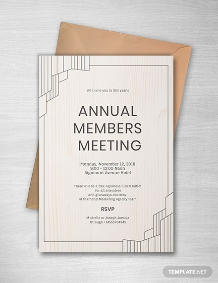Annual Meeting Invitation Event invitation design