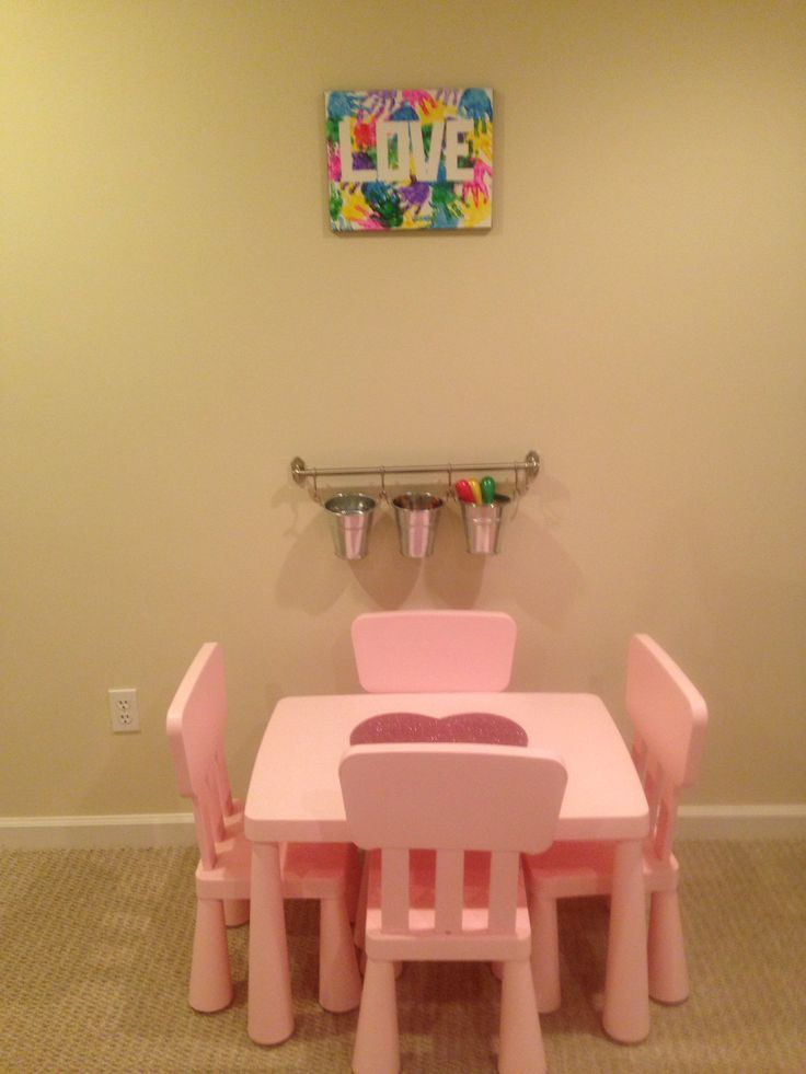 art station playroom with ikea mammut table and hanging. Black Bedroom Furniture Sets. Home Design Ideas