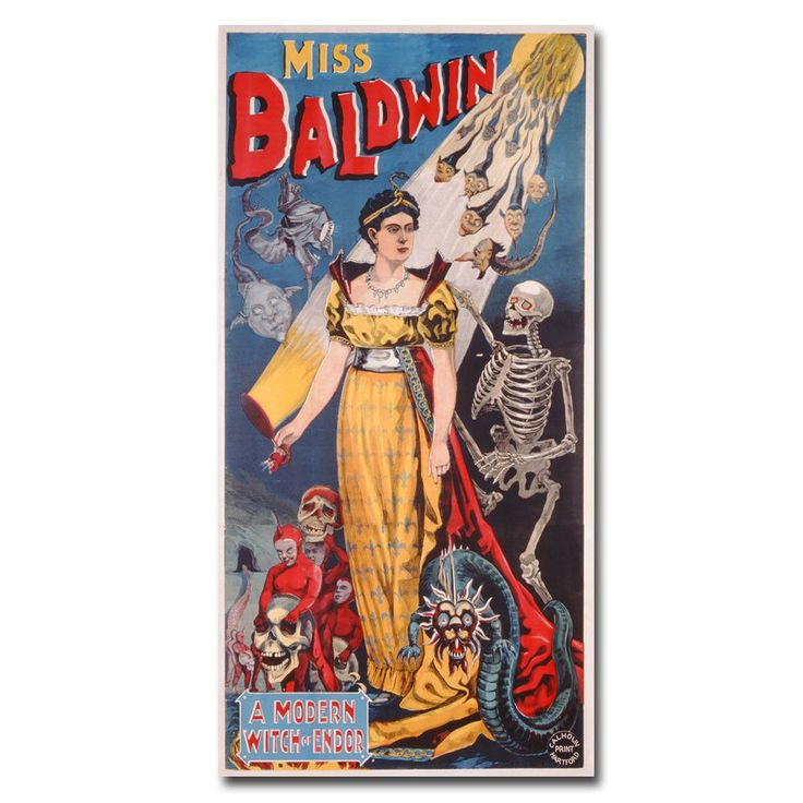Miss Baldwin a Modern Witch of Endor, 1888 Vintage Advertisement on Canvas