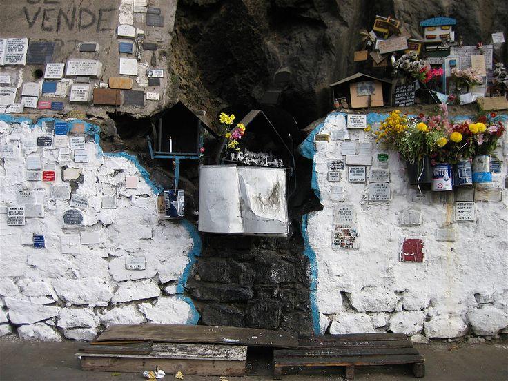 Shrine near a hospital in Vaparaiso, Chile.