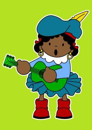 Muziek Piet 1a - Sinterklaaskaarten - Kaartje2go