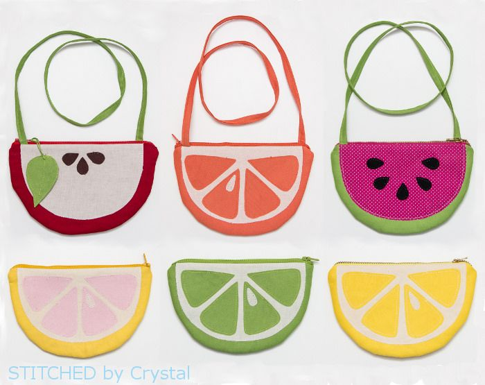 http://www.stitchedbycrystal.com/2015/03/tutorial-fruit-slice-purses-and-pouches.html