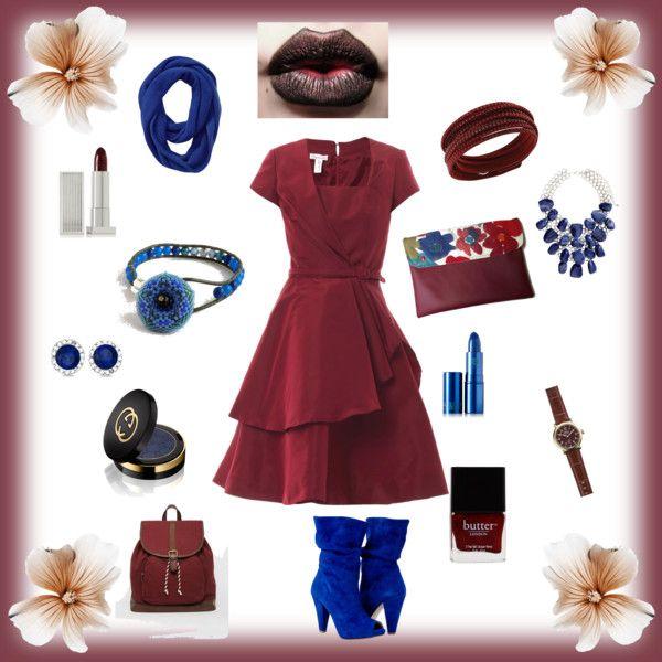 Blue & Marsala by annawirejewelry on Polyvore featuring Oscar de la Renta, ASOS, Shinola, Allurez, Swarovski, H&M, Athleta, Lipstick Queen, Gucci and Butter London
