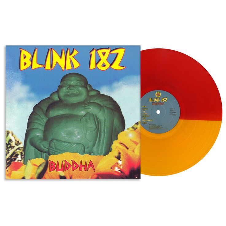 Lazy Labrador Records - Blink 182 · Buddha · LP · Red Orange Split, $54.99 (http://lazylabradorrecords.com/blink-182-buddha-lp-red-orange-split/)