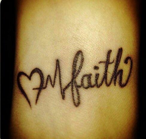 Heartbeat + Faith wrist tattoo