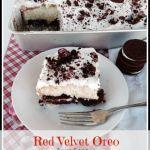 Red Velvet Oreo Poke Cake