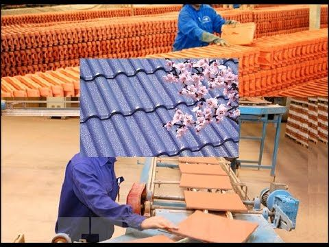 Manufacturing Process Of Roof Tiles Discovery Technology Global Technology Youtube Manufacturing Process Roof Tiles Manufacturing