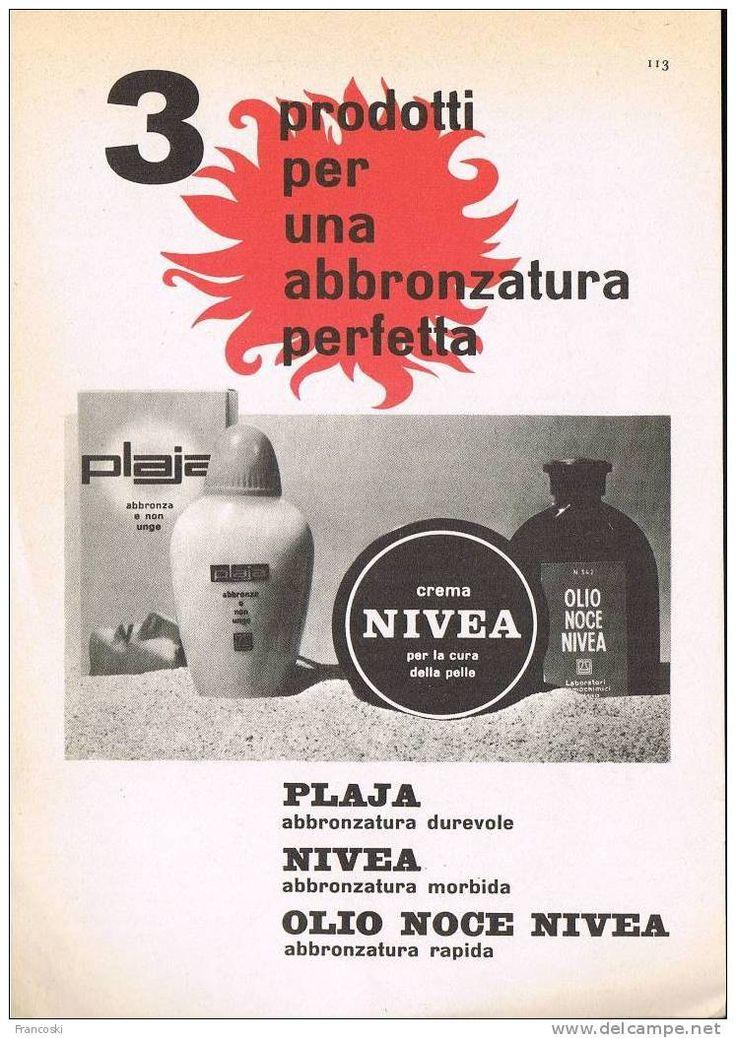 """Pubblicità """"CREMA NIVEA"""" 1960´-Page Magazine Advert-"""