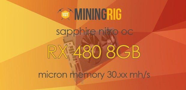 Best BIOS ROM for Sapphire Nitro RX 480 8GB OC Micron Memory 30+ Mh/s  #SapphireNitro #RX480 #8GB #Micron #Elpida #Memory #MicronMemory #Bios #Flash #MiningRig #Ethereum #ETH #Decred #DCR #DualMining #Claymore #hashrate #tutorial