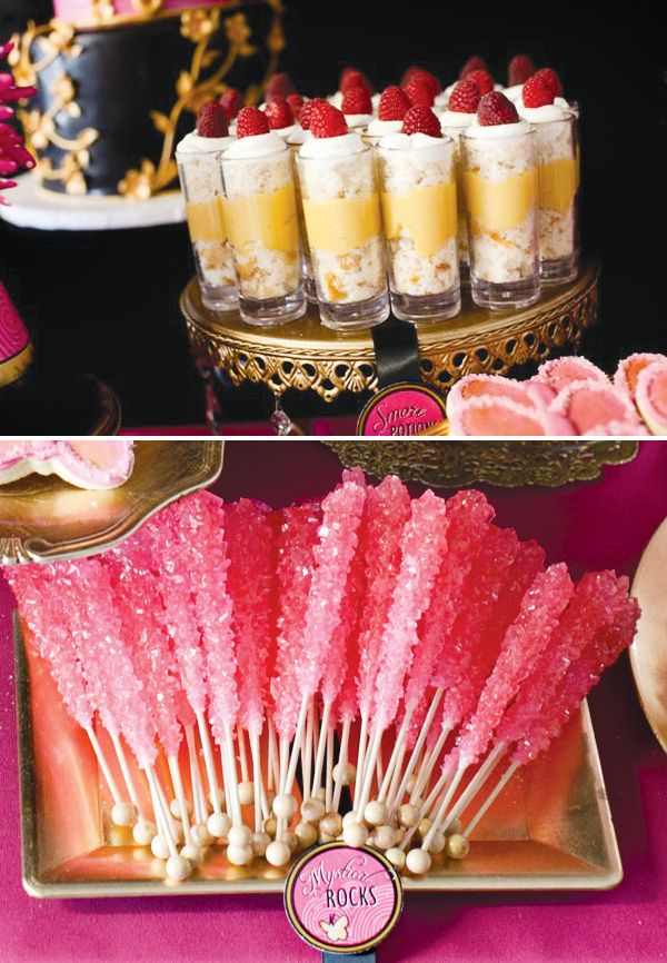 Amazae Special Events | www.amazaespecialevents.com | Pink Power Ranger Birthday Party | Dessert Bar