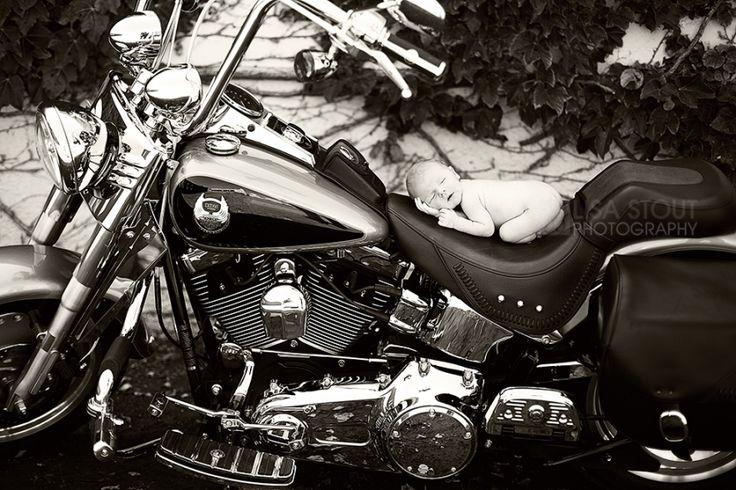 Thane   McPherson Kansas Newborn Photographer » Lisa Stout Photography  motorcycle newborn baby