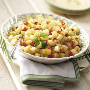 O'Larry's Skillet Potatoes- Delicious side dish!  Easy and so full of flavor.