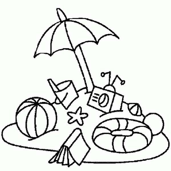 Beach Vacation Everything You Need On Beach Vacation Coloring Page Unicorn Coloring Pages Summer Coloring Pages Coloring Pages