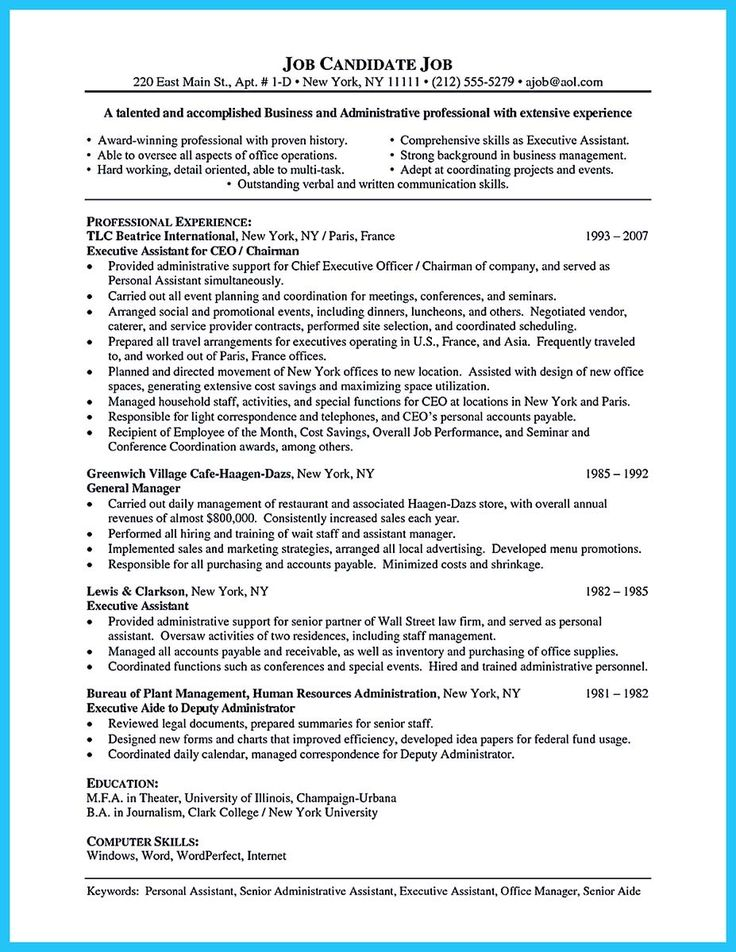 Awesome Sample To Make Administrative Assistant Resume  Resume