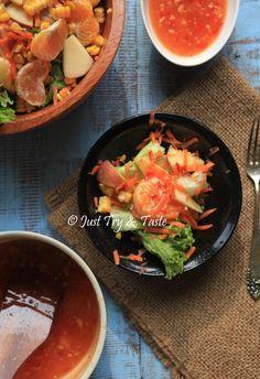 Resep Salad Sayur-Buah dengan Saus Thai