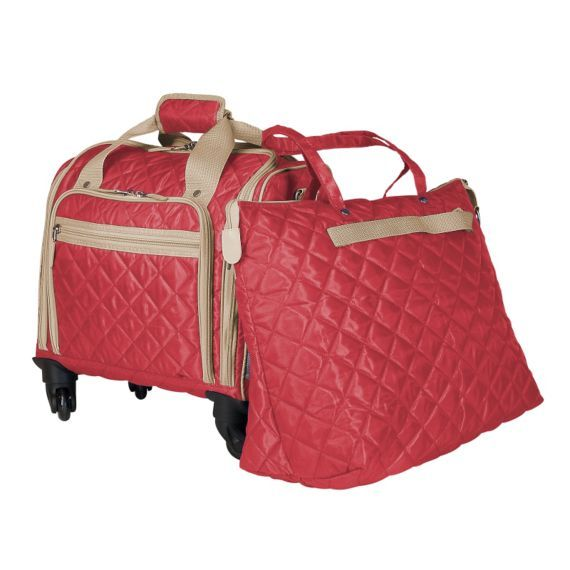 Travelsmith 360 Degree Spinner Rolling Carry On With Free