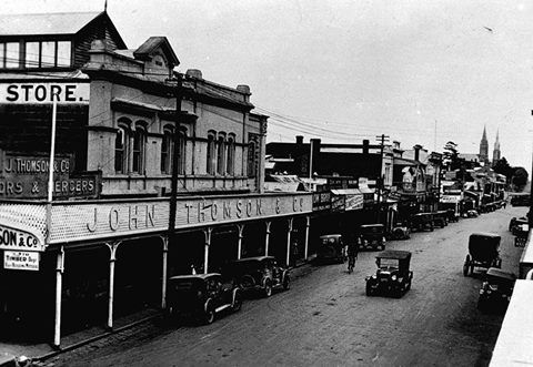 Hamilton, Victoria looking up Gray Street 1930