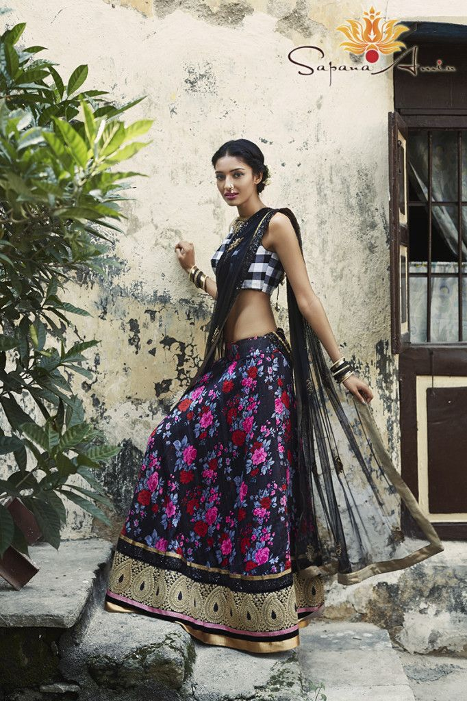 Bombay Eclectic Collection 2014-Editorial Photoshoot « Sapana Amin. Visit sapanaamin.com floaral lehenga