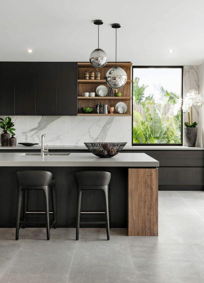 1001 Ideas De Cocinas Con Barra Modernas Y Bonitas Diseno De Cocina Moderna Diseno De Interiores De Cocina Cocinas De Casa