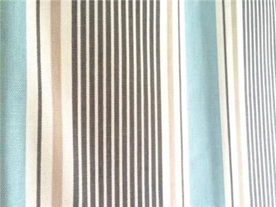 Coastal Inspired Clark & Clark Sail Stripe Fabric Curtains - For Extra Large Period Home Windows