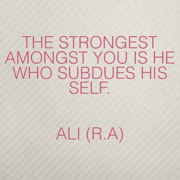Islamic quotes. Hazrat Ali (R.A.).