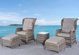 2x rotting lenestoler i grå, til verandaen