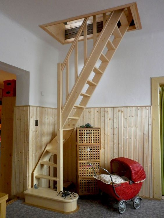 90 genius loft stair for tiny house ideas dachboden treppe und dachausbau. Black Bedroom Furniture Sets. Home Design Ideas