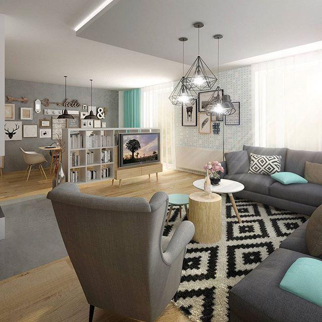 Vizualizace obývacího pokoje #visualization #livingroom #inspiration #design #interior #liniedesignstudio