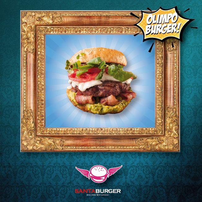 La mejor #BurgerdeViernes!! La #OlimpoBurger con Mozzarella de Búfala fresca, Berros, Tocino ahumado, Palta y Tomate es la divinidad hecha Burger! Te atreves a probarla?