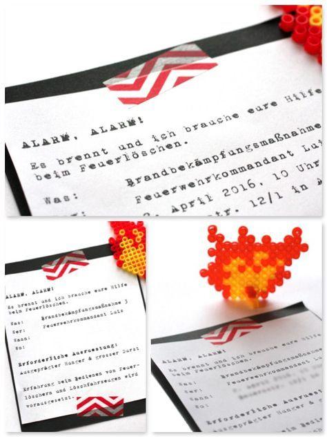 Feuerwehrparty Einladung Feuerwehrgeburtstag