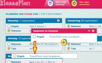Een leerling kan zelf taken invoeren en inplannen op de digitale weektaak van Klasseplan.