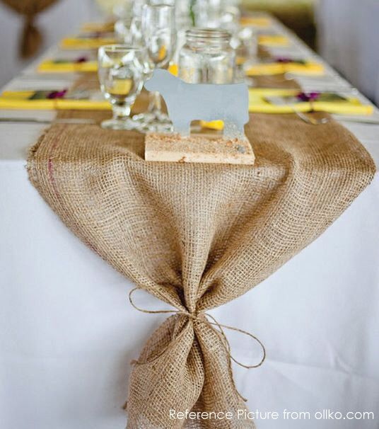Natural Burlap Runner READY TO SHIP. Rustic Chic Decoration for Event Dinner, Festival, Wedding, Bridal Shower, Home Decoration by ArcadiaWeddingDesign on Etsy https://www.etsy.com/listing/213889815/natural-burlap-runner-ready-to-ship