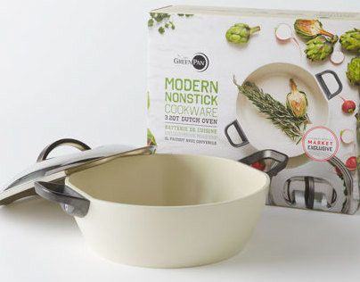 Packaging for the Modern Non-Stick Cookware Collection for the West Elm Market Stores.