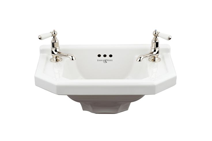 Deco powder room basin | Perrin and Rowe