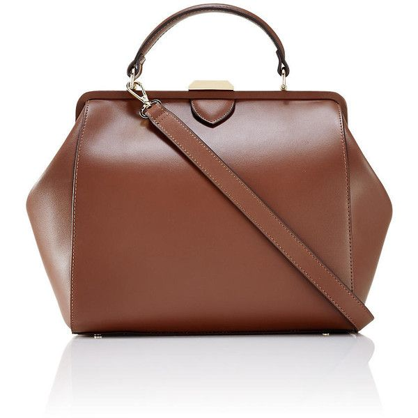 The Limited Frame Satchel Brown ($190) ? liked on Polyvore ...