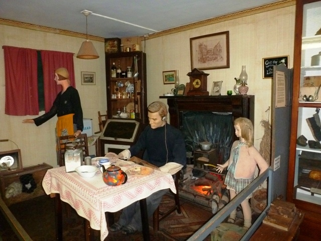 Family Living Room During Wartime Occupation