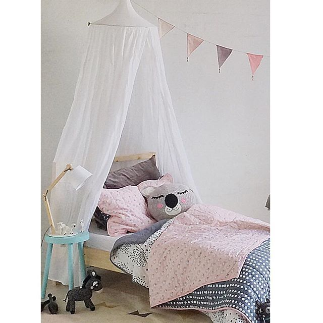 A bed fit for a princess ✨ #kidsdecor #ladedahkids #bedding