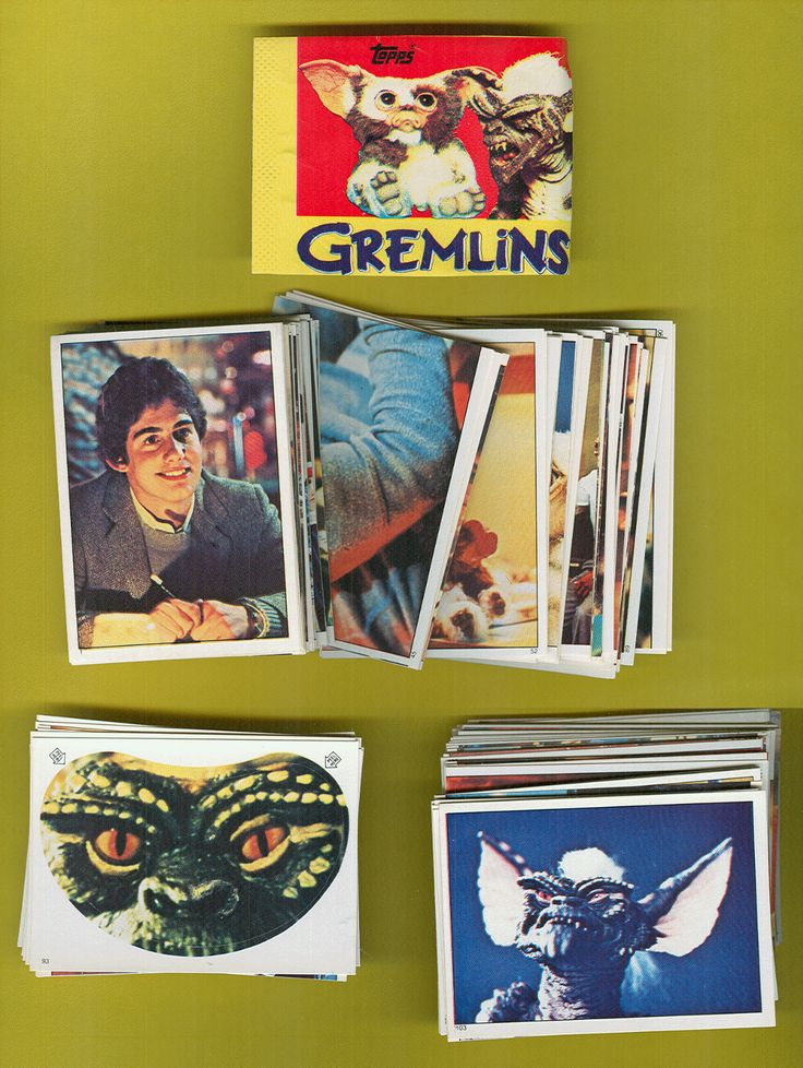 album panini complet les gremlins album vierge 180 stickers a coller import us 1984. Black Bedroom Furniture Sets. Home Design Ideas