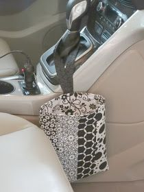 Stitching in the Trees: Easy Trash Bag for your Car Tutorial